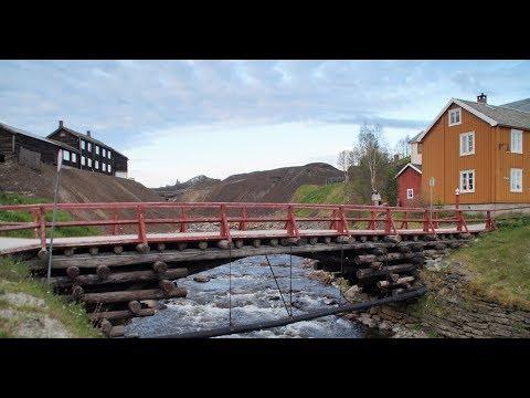 Røros,    Kupferhütte- und Bergwerk in Norwegen