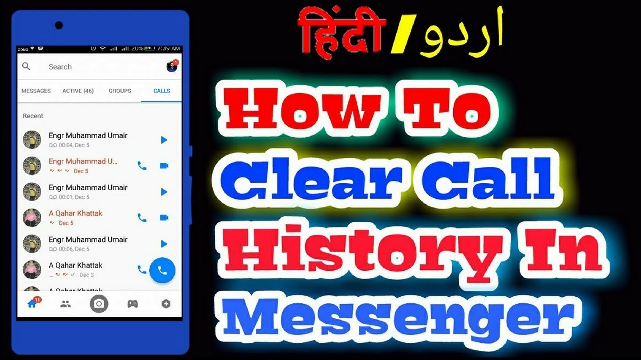 How to delete a call history in facebook messenger youtube how to delete a call history in facebook messenger ccuart Choice Image