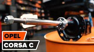 Bruksanvisning: Hvordan bytte Fremre støtdemper, Fjærbeinstoppmontering på OPEL CORSA C