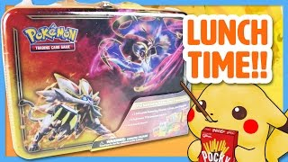LUNCH TIME! Opening a Pokemon Sun & Moon Collectors Chest! | Pokemon Cards