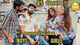 BOYS VS GIRLS | GOLGAPPE CHALLENGE