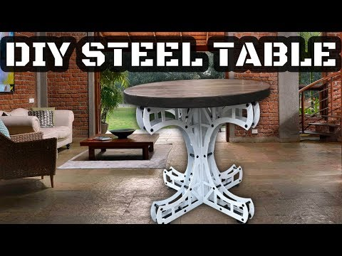 DIY Industrial Steel Table - 20 Ton Rated - Plans and Kits Available - Metal and Wood Furniture