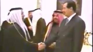 كلمة الشيخ أحمد خليل المرعي العجارمه امام الرئيس الشهيد البطل المهيب صدام حسين عام 2003