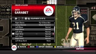 NCAA Football 13 - Road to Glory Ep.1 Creation of Anto Garabet RB