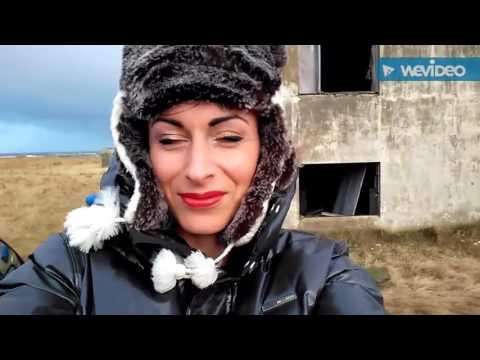 Windy Iceland photoshoot