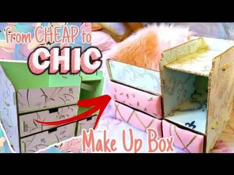 converting-old-makeup-box-to-new-look-|-from-cheap-to-chic-|-makeup-organizer-makeover-|-shopee-5.5