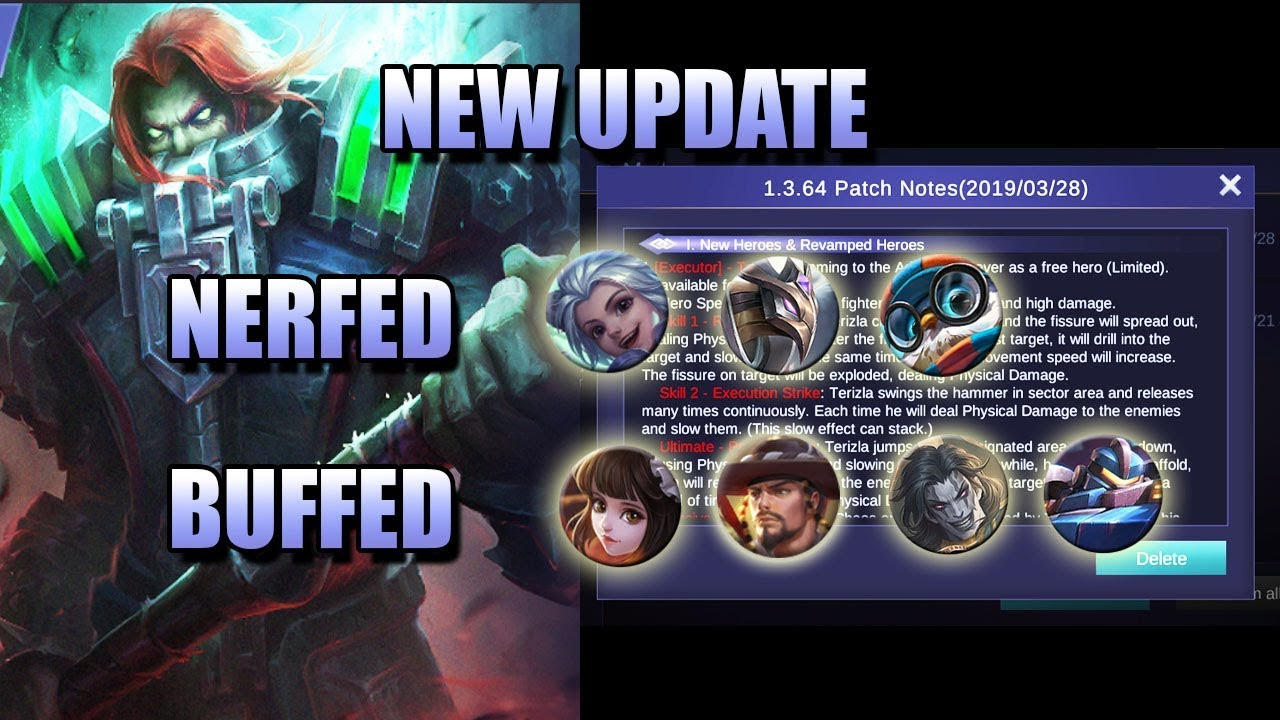 NEW UPDATE - HARITH BIG NERF, MORE BUFF ON REVAMPED HEROES