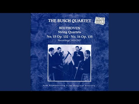 String Quartet No 16 In F, Op. 135: III. Lento Assai Vivace