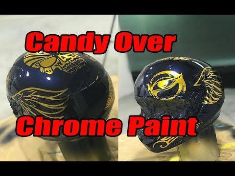 Candy over Chrome paint, custom helmet spray job.