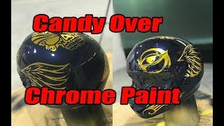 Candy over Chrome paint, custom helmet spray job.
