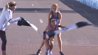 Stranger Carries Woman to Marathon Finish Line