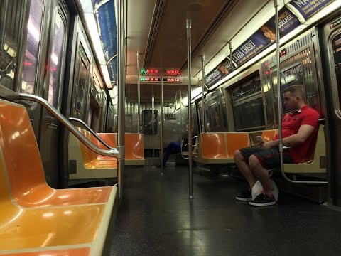 NYC Subway HD 60 FPS: Round Trip G Train Full Line Ride on Howling R68 2862 LED Display Test Car