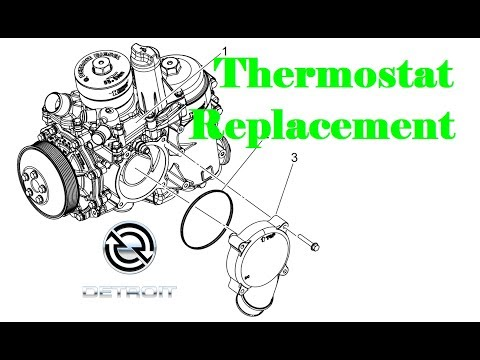 Replacing a Thermostat in a Detroit DD Engine - YouTube