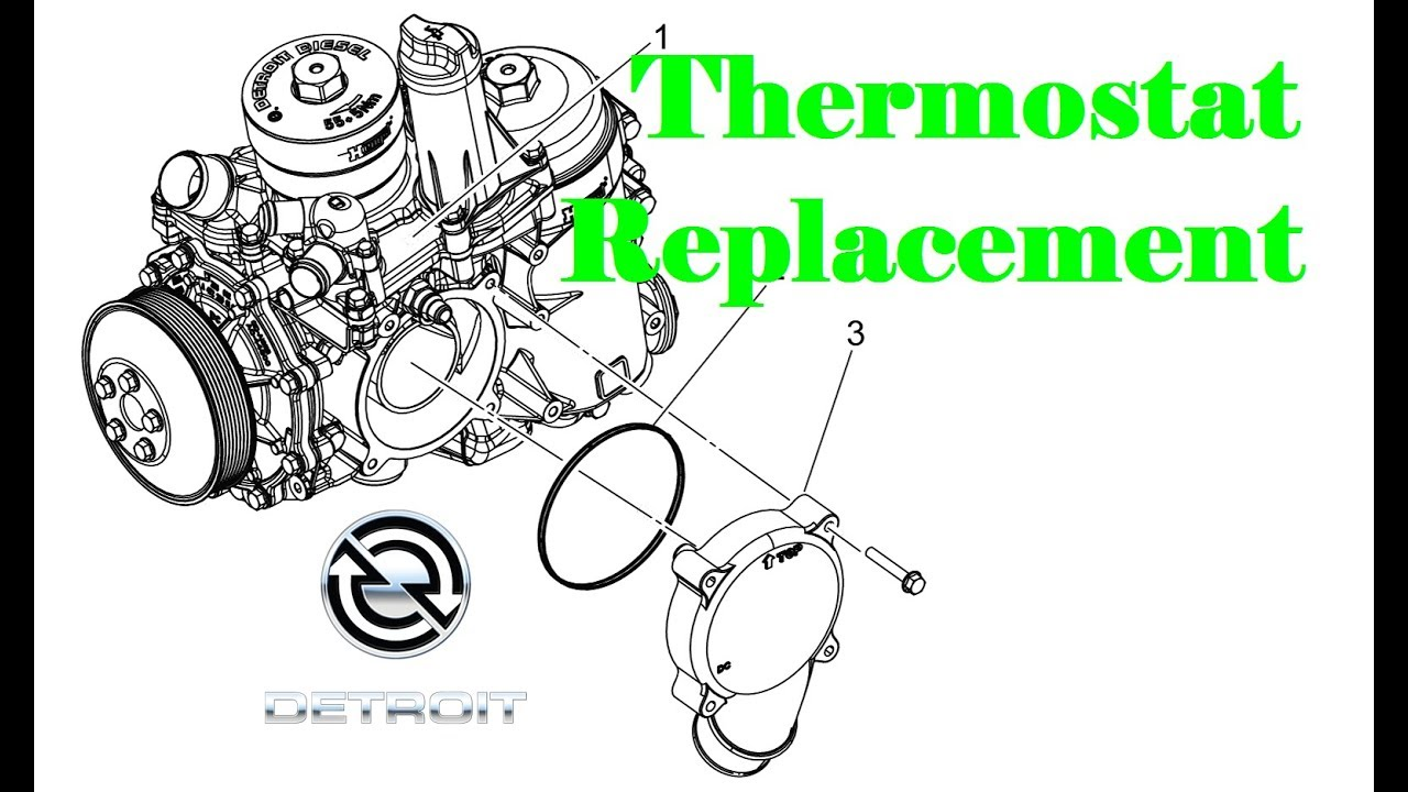 Replacing a Thermostat in a Detroit DD Engine on