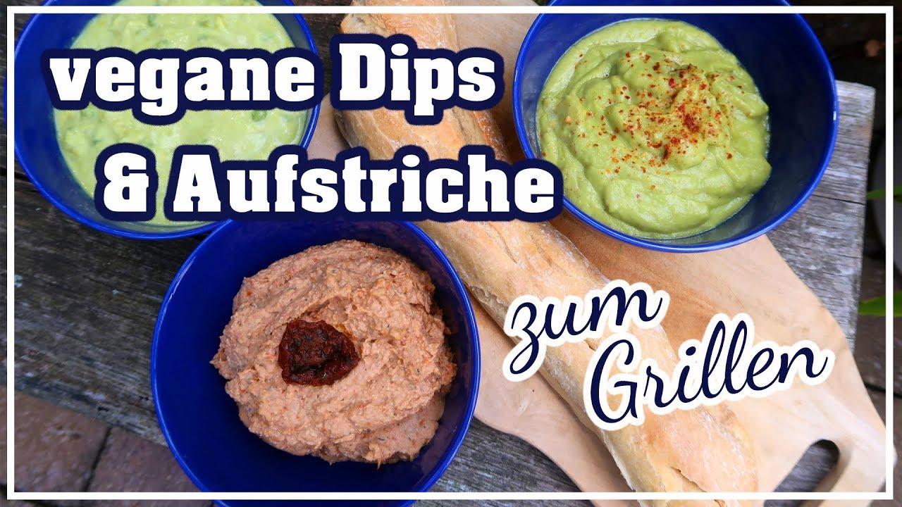 Vegane Brotaufstriche und Dips zum Grillen   schnelle Rezepte