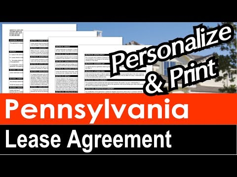 Pennsylvania Lease Agreement for Rental Property