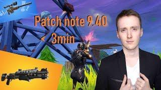 New POMPE! Update9.40 in - 3 min! (Fortnite Patch Note 9.40)