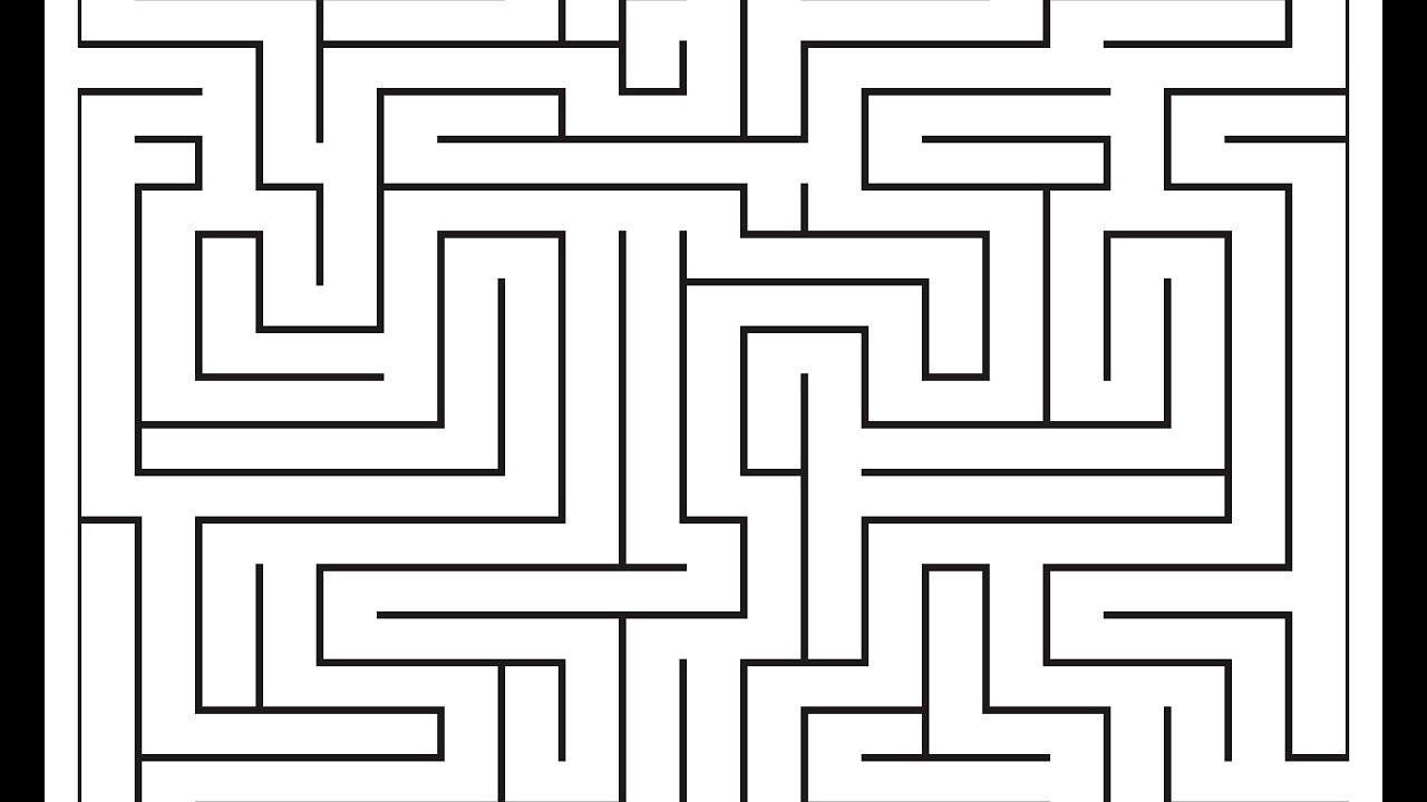 Maze - Adobe Illustrator cs6 tutorial  How to draw labyrinth in really easy  way