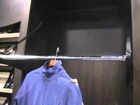 Automated Wardrobe Lift ; A Motorized Clothes Rail Or Closet Rod   YouTube