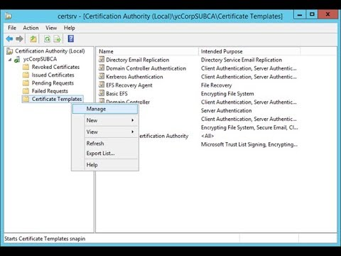 How to Create a Certificate Template in CA - YouTube