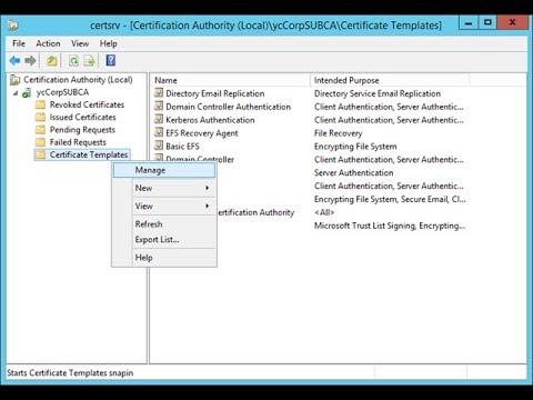 How To Create A Certificate Template In CA