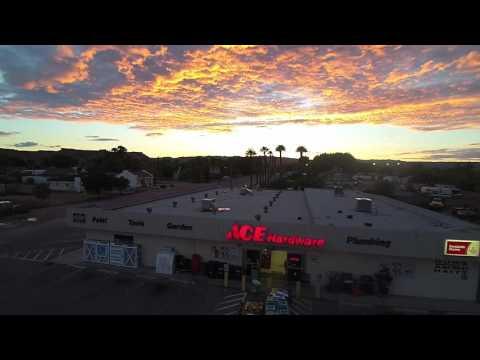 Sunset over Overton Ace Hardware