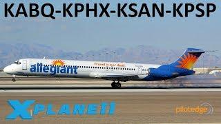 X-Plane 11 | MADDOG Baby | MD80 A320 B737 | PilotEdge | Albuquerque, Phoenix, San Diego & P. Springs