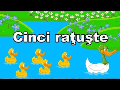 Cinci Ratuste - Cantece Pentru Copii - CanteceleCopii.ro
