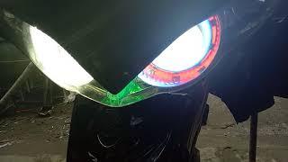 Proji led dan lampu 3 sisi di motor jupiter z