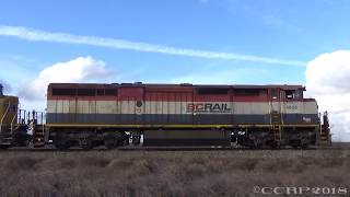 BCRail! Chasing BCOL C40-8M 4609 leading a Northbound manifest 2/17/18 thumbnail