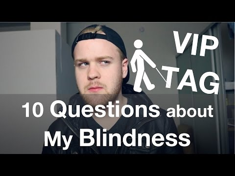 Questions about My Blindness!   VIP Tag - Visually Impaired Person Tag