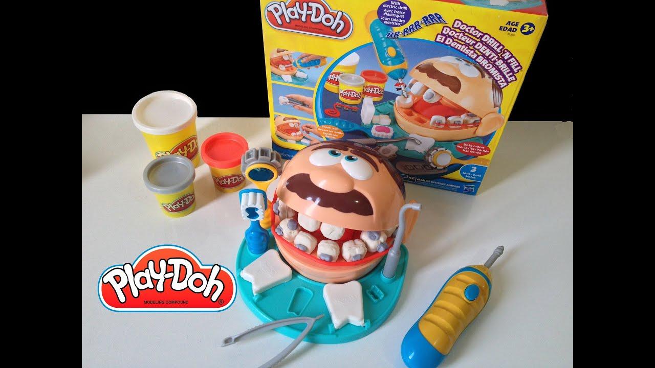 dentista playdoh brincando de massinha doctor dentist. Black Bedroom Furniture Sets. Home Design Ideas