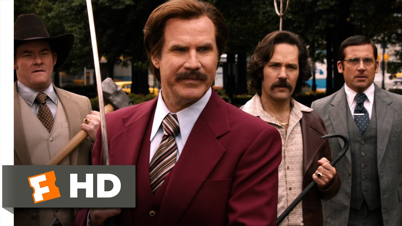 Anchorman 2 The Legend Continues News Team Fighting Words Scene 9 10 Movieclips Youtube