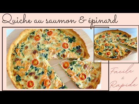 quiche-au-saumon-&-épinard-i-recette-facile-et-rapide-spécial-ramadan-2020