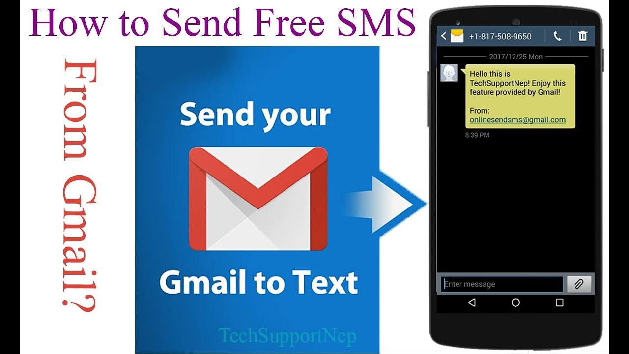 How to Send Free SMS From Gmail?