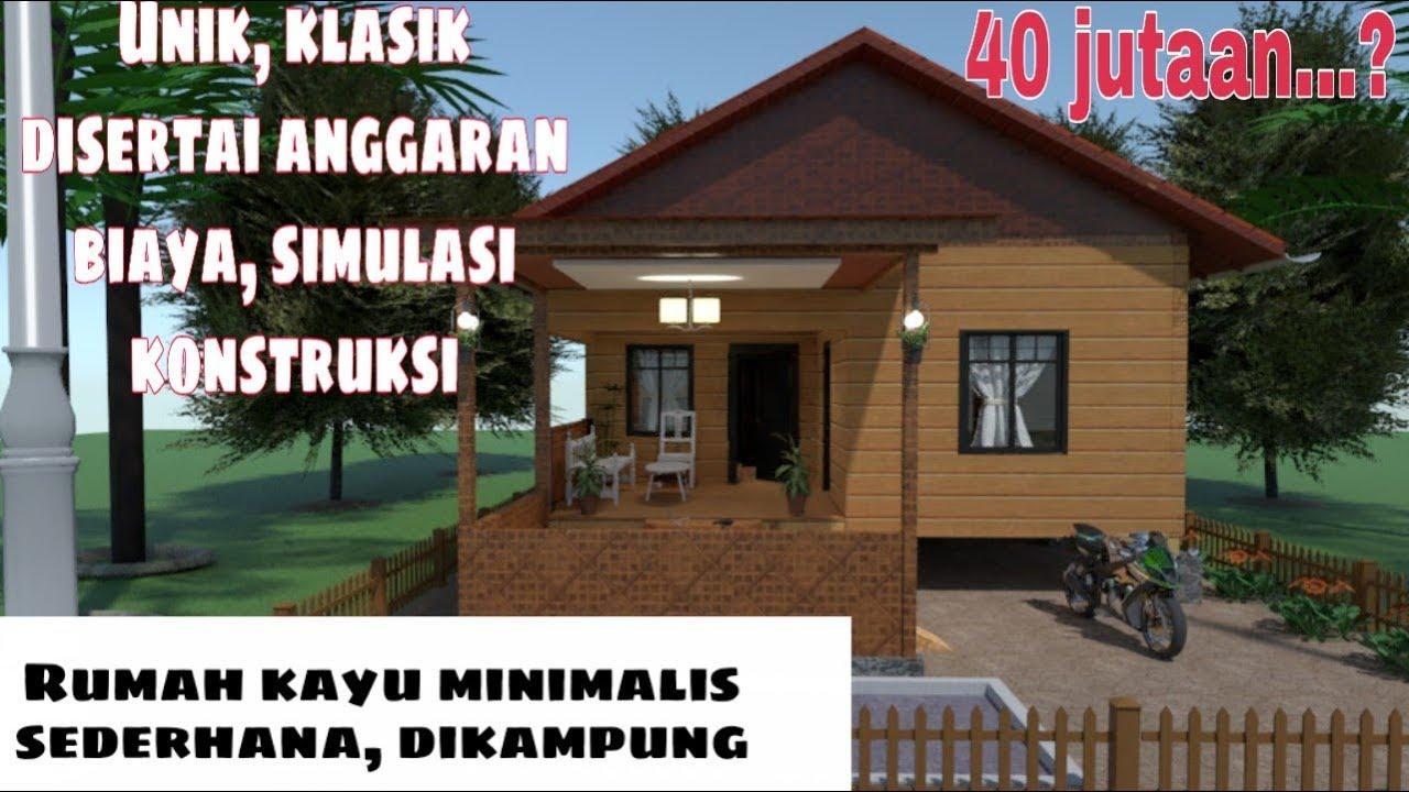 Rumah Panggung Desain Rumah Kayu Minimalis Type 36 Cek Bahan Bangunan