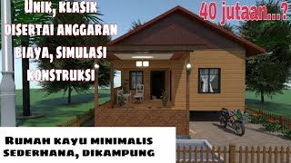 Desain Rumah Kayu Minimalis Di Kampung Rumah Sederhana 6x8 Meter Youtube