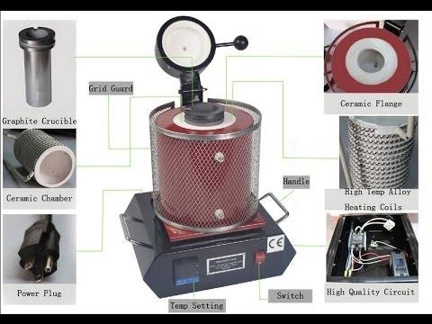 110V 3Kg Digital Automatic Melting Furnace For Melt Scrap Silver & Gold Jewelry