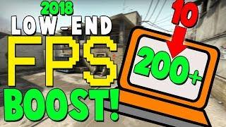 CS:GO FPS BOOST! (2018) FOR LOW-END PCs/LAPTOPS!