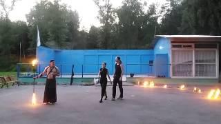 файер шоу в лагере