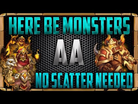 Here Be Monsters AA Strategy | No Scatter | Castle Clash