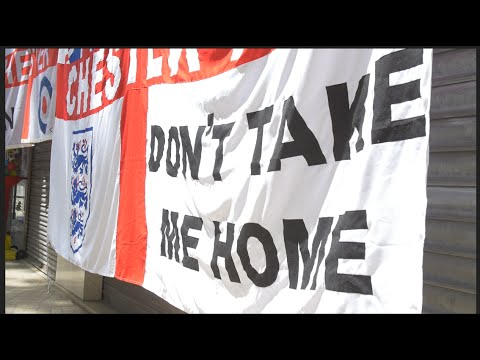 England Fans and their Flags - A Tribal Display
