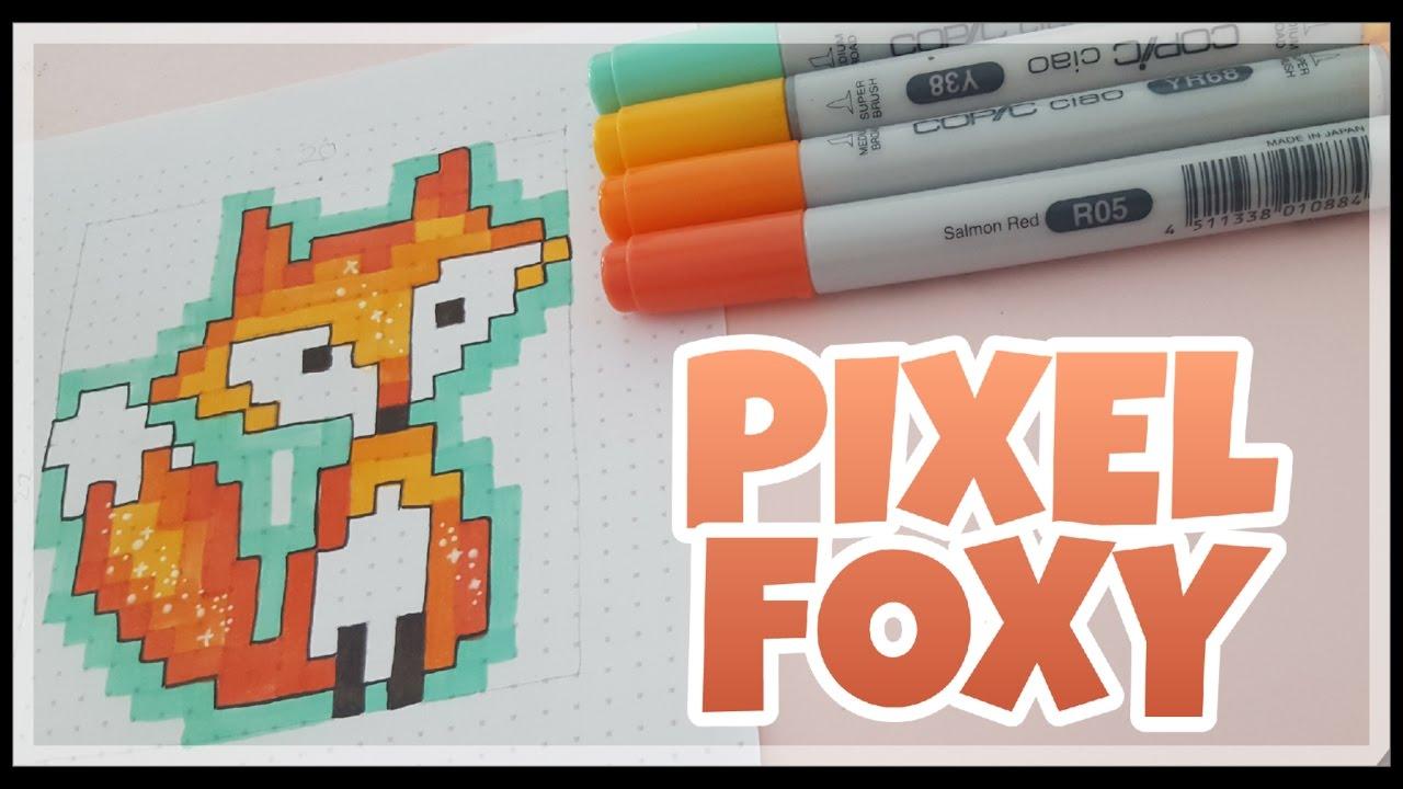 Pixel Art How To Draw Pixel Foxy Fuchs Malen Copics Foxy