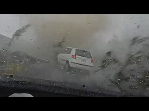 Residents hid in their Homes! Incredible Storm hits Berguedà, Catalonia, Spain