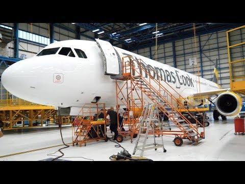 INSIDE AN AIRCRAFT MAINTENANCE HANGAR- Thomas Cook Airlines Hangar Tour- Manchester Airport