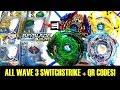 ALL WAVE 3 SWITCHSTRIKE + QR CODES + BATTLES! BEYBLADE BURST EVOLUTION