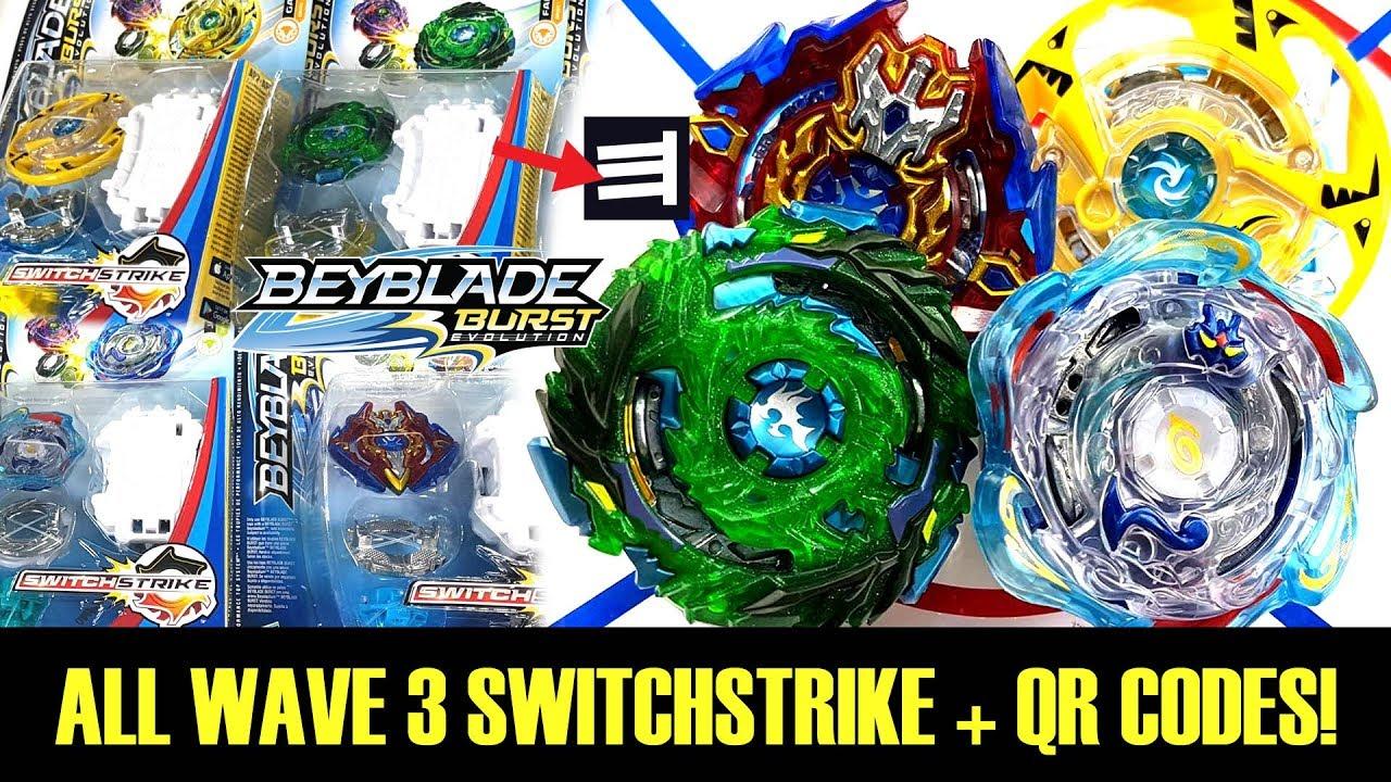 All Wave 3 Switchstrike Qr Codes Battles Beyblade Burst