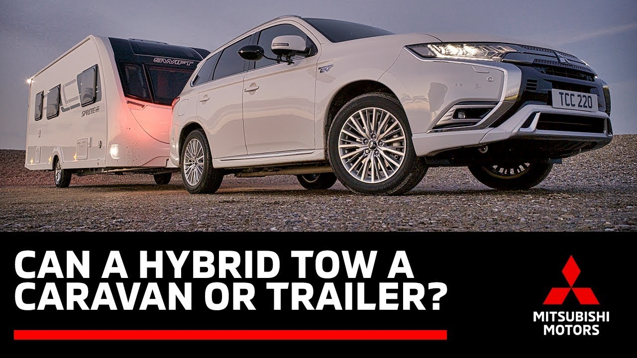 Can A Hybrid Tow A Caravan Neil Greentree Tests The Outlander Phev Youtube