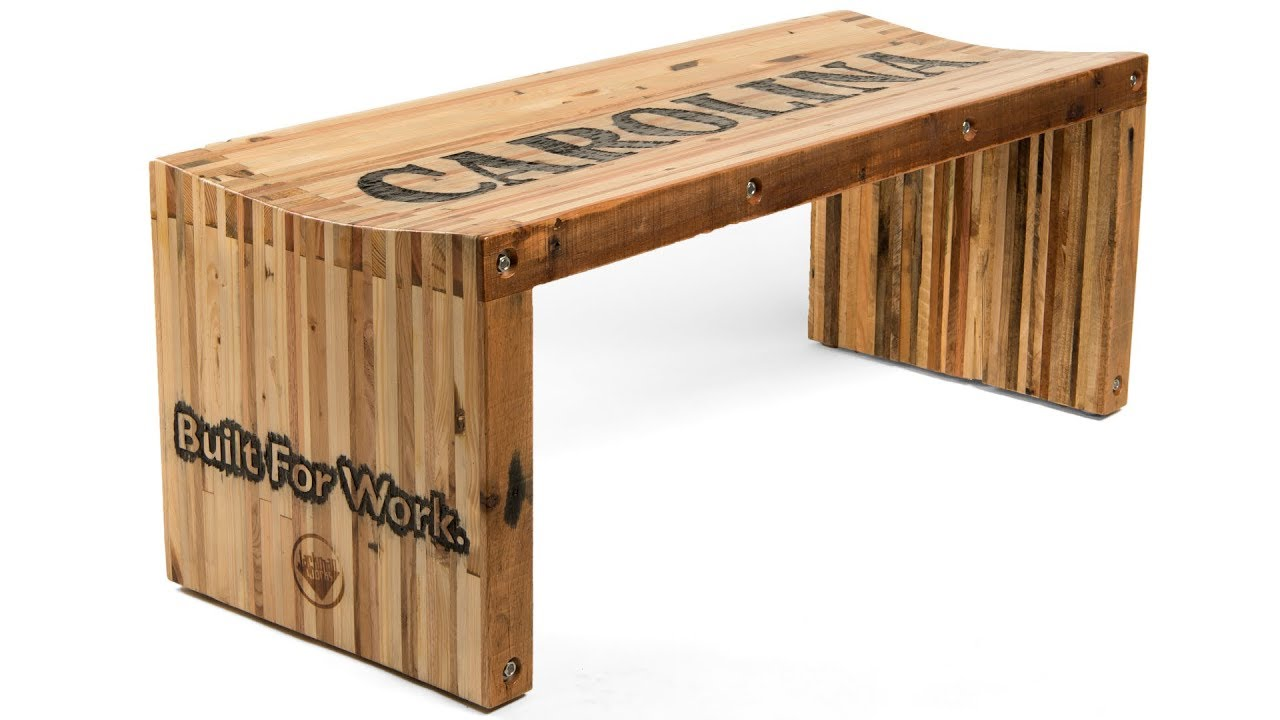 Pallet Wood Slat Bench Youtube