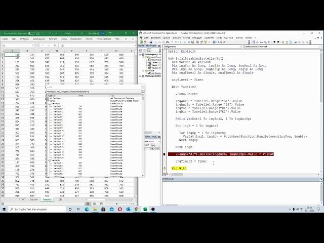209: Excel-VBA: Auf der Suche nach Bremsern - Automatisierte Erstellung von Testdaten